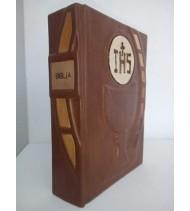 BÍBLIA EM COURO + EMBUTIDOS DE MADEIRA