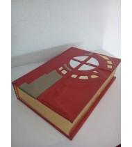 BÍBLIA EM COURO FOLHAS DOURADAS
