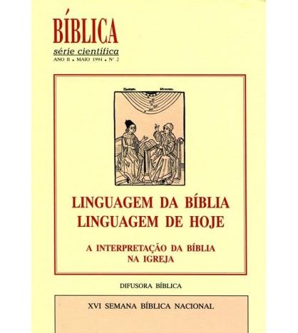 LINGUAGEM DA BÍBLIA, LINGUAGEM DE HOJE