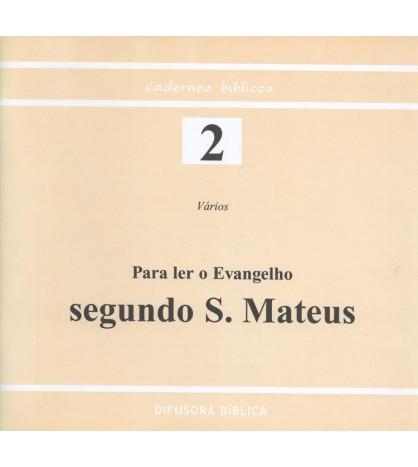 PARA LER O EVANGELHO SEGUNDO S. MATEUS